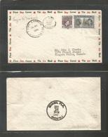 Airmails - World. 1941 (14 Dec) Nigeria - USA. 1st Flight. Special Cachet. Multifkd Envelope Incl 2sh 6d Stamp. Addresse - Stamps