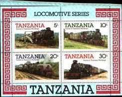 90456) Tanzania -  1985 Locomotive A Vapore BF -MNH** - Tanzania (1964-...)