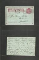 Chile - Stationery. 1899 (9 Nov) Concepción - Estación Yumbel (10 Nov) 2c Red Stat Card. Scarce Arrival Cancel. - Chile
