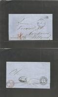 "Denmark. 1863 (26 March) Svendburg - Netherlands, Arnhem (29 March) Cash Paid ""Franco"" Depart E. Reverse Transited Via H - Denmark"