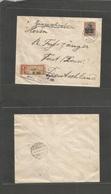 Estonia. 1918 (15 Oct) German Occup. Reval - Forst, Germany (18 Oct) Registered Single Fkd Ovptd Germania Issue + Censor - Estonia