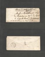 France. 1855 (23 Oct) Crimea War. Paris - Inberman Camp (12 Nov) Stampless Envelope Addressed To Officer In Hospital. A  - France