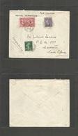 France - Xx. 1927 ( Oct) Grenoble - South Africa, Capetown Via London Semeuse Multifkd Env + American Legion Issue, Cds. - France