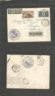 "France - Xx. 1931 (22 Aug) Paris - Indochina, Saigon (4 March) Air Multifkd Env Incl Exposition Colonial + ""Via Air Orie - France"