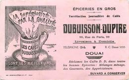 Buvard Ancien CAFE DUBUISSON DUPIRE - EPICERIE EN GROS - DOUAI - Café & Thé