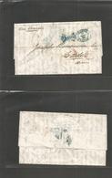 "Great Britain - Xx. 1859 (24 May) London - Spain, Cadiz (31 May) EL Full Text Red Lombard St. Paid + Blue Oval ""Cadiz /  - Great Britain"