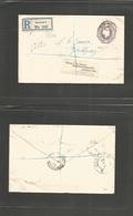 Great Britain - Stationery. 1909 (16 Jan) Norwood - Sweden, Jonkoping (18 Jan) Registered 6d Lilac Embossed Stat Env, Cd - Great Britain