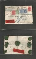 Great Britain - Xx. 1909 (Dec 26) South Kensington - Netherlands, Amsterdam (27 Dec) Registered Insuff GBP 4 - 10 Sh Mul - Great Britain