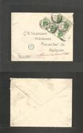 Great Britain - Xx. 1929 (17 July) UPU Congress. Bradford - Netherlands, Amsterdam. Multifkd Env 1/2d Green (x5), Cds. F - Great Britain
