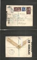 Great Britain - Xx. 1940 (9 Feb) Liverpool - Netherlands, Arnheim (17 Feb) Registered Censor Multifkd Env Including Coro - Great Britain
