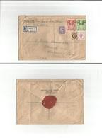Great Britain - Xx. 1947 (9 July) Liverpool - India, Calatta. Registered Air Multifkd Env, Incl 2/6 And 5 Sh Red High Va - Great Britain