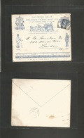 Gb - Channel Islands. 1890 (July 17) PO Jubilee 1d Blue Stat Env. Cds Addressed To London (July 19) Fine + Unusual Usage - Great Britain