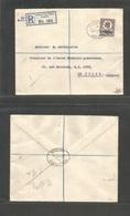 Grb - British Levant. 1914 (22 Sept) Smyrna - Egypt, Cairo. Registered  Single 2p Ovptd Issue Fkd Envelope. VF. - Great Britain
