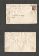 Grb - British Levant. 1921 (18 Dec) Constantinople - USA, New Brunswick, NJ. C. College Single 7 1/2p Fkd Env Cds. Fine. - Great Britain