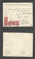 Grb - British Levant. 1922 (18 Feb) Constantinople - Egypt, Cairo (28 Feb) Armenian Business. Single Language Printed Fk - Great Britain