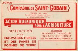 Buvard Ancien COMPAGNIE DE SAINT GOBAIN - ACIDE SULFURIQUE AGRICOLE - ENGRAIS - PARIS - Agriculture
