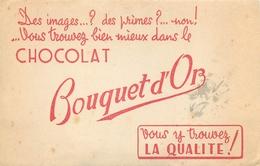 Buvard Ancien CHOCOLAT BOUQUET D OR - Cocoa & Chocolat