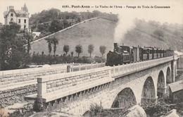 Rare Cpa Pont-Aven Le Viaduc De L'aven Passage Du Train De Concarneau - Pont Aven