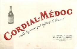Buvard Ancien LIQUEUR CORDIAL MEDOC - G.A JOURDE - CENON - Liqueur & Bière