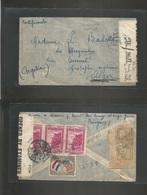 Paraguay. 1942 (Dec) Asuncion - Argelia, Alger. Registered Reverse Multifkd, British Trinidad IC Censored. Via Lisboa (1 - Paraguay