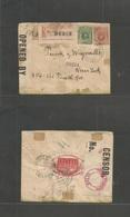 Peru. 1918. Callao - USA, NYC. Registered Multifkd Env + WWI Censor + Official P.o.seal Reverse, All Tied. Fine. - Peru