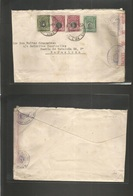 Peru. 1923 (5 Oct) Lima - Spain, Barcelona. Multifkd Envelope + Arrival Opened + Cerrado Oficial At Post Office. Most Un - Peru