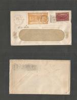 Philately. 1910. USA. New England Stamp Cº. Illustrated GBP 5.00 Orange GB Envelope. Local Fkd Prate. Boston - Bromfield - Stamps