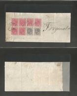 E-Alfonso Xii. 1894 (26 Abr) Madrid Correo Certificado. Emisiones Mixto Uso En Fragmento Incluye Bloque De 4 + 2 De 1 Pt - Unclassified