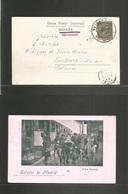 """E-Alfonso Xiii. 1899 (2 Nov) Valladolid - Holanda (25 Nov) Tarjeta Postal """"Madrid Saludos De"""" Con Franqueo Emision Pelon - Unclassified"""
