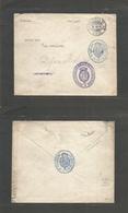 E-Alfonso Xiii. 1916. Correo Diplomatico. Valija WWI Madrid - Estocolmo, Suecia Via Diplomatica Con Varios Cachets Al Fr - Unclassified