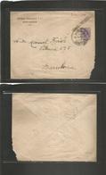 E-Enteros Postales. 1917. Enteros Postales Iniciativa Privada. Antonio Fernandez, Santander. Circulada A Barcelona Num A - Unclassified