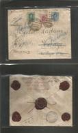 E-Alfonso Xiii. 1924 (16 April) 278º, 277º, 314º. Barcelona - Alemania, Haage (23 April) Sobre Certificado Multicolor Em - Unclassified