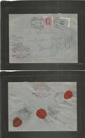 E-Alfonso Xiii. 1924 (17 Nov) 277º, 311º. Madrid - Haiti. Puerto Principe (8 Dic) Via USA - NY. Sobre Certificado Franqu - Unclassified