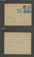 E-Canarias. 1936 (12 Dec) Las Palmas - Alemania. Sobrecarga Local Correo Aereo. Bonito. - Unclassified