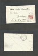 E-Guerra Civil. 1937. Brigadas Internacionales. Uso Local A Barcelona, Att Subsecretario Hacienda Selec 45c Franqueo Con - Unclassified