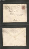 E-E.L.Patrioticas. 1937 (1 Oct) Segovia - Cadiz. Sobre Franqueado Sobrecargado Local Sello + Censura. Bonita. - Unclassified