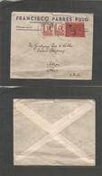 E-Estado Español. 1937 (10 Dic) Melilla - USA, Akron, OH. Sobre Franqueo Tarifa 60c (2ª Tarifa) Con Censura Y Sello Bene - Unclassified