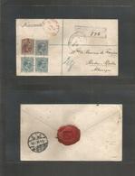 E-Fernando Poo. 1898. F. Poo - Alemania, Baden Baden (3 Abril) Sobre Certificado Con Cuatro Sellos Pelon Tarifa 35 Centi - Unclassified