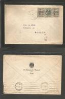 E-Guinea. 1947 (31 Mayo) Santa Isabel - Madrid (8 Junio) Sobre Oficial Franqueado. - Unclassified