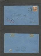 E-Marianas Islands. 1902 (17 Apr) Agana / Island Of Guam - USA, Syracuse, NY (May 7) Fkd Env. Guam Ovptd Issue, Cds Inte - Unclassified
