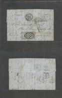 Puerto Rico. 1868 (25 Febr) San German - Isla De Corcega, Bastia, France (17 Marzo) Carta Completa Franqueo Isabel II 10 - Puerto Rico