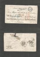 "Sweden. 1865 (22 July) Stockholm - Switzerland, Interlaken, Fwded Vevey. ""Aus Schweden"" Cash Paid Multicharged Envelope. - Sweden"