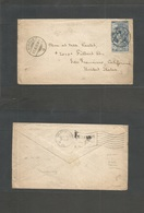 Switzerland. 1900 (20 Sept) Airolo, Ticino (1,000 Hab) - USA, San Francisco, CA. UPU 25c Blue Single Fkd Envelope. Nice  - Unclassified