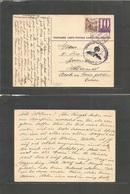 Switzerland - Xx. 1941 (31 March) Wattwill - Netherlands, Dolden 10c Lilac Stat Card + Adtl. Nazi Censor. Occup Period.  - Unclassified