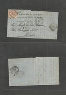 """Tunisia. 1873 (4 Abr) Italian Post Office. GPO - Livorno, Italy (12 Apr) EL Written In Jewish, Doble Ring """"Tunisi / Post - Tunisia"""