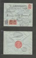 Turkey. 1916 (19 Sept) Constantinople - Switzerland, Geneve (28 Sept) Registered Comercial Multifkd Env, Ovptd Issue + ( - Turkey