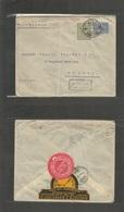 Turkey. 1917 (11 June) Smyrne - Switzerland, Geneve (8 July) Ovptd Stationery Envelope + Adtl Reverse Watch Illustrated  - Turkey