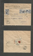 Turkey. 1923 (20 Dec) Istambul - Switzerland, Geneva (24 Dec) Comercial Multifkd Illustrated Envelope. Fine. - Turkey