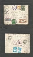 Turkey. 1943 (20 July) Izmir - USA, NYC (2 Sept 43) Registered Air Fkd Env Via Egypt + (Lagos) - (Natal) Miami (1 Sept)  - Turkey