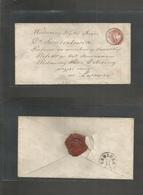 Ukraine. C. 1865 (21 Nov) Austrian PO Period - Poland - West Ukraine. Jaworow - Livowic. Fkd Env. 5kr Rose Red Tied Cd,  - Ukraine